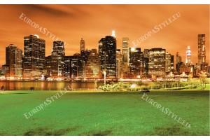 Фототапет нощен изглед на Манхатън Ню Йорк от парк