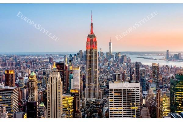 нощен изглед на Манхатън Ню Йорк светлини 2