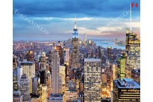 панорамен перфектен изглед на нощен Манхатън в 2 цвята