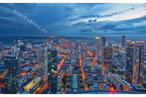 Фототапети нощен изглед на красив град залез в 2 цвята