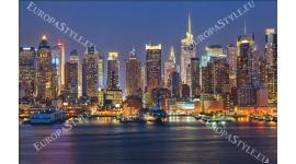 Фототапети крайбрежието на нощен Ню Йорк