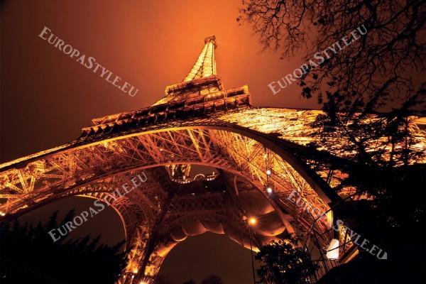Фототапети Париж страхотен нощен изглед на Айфеловата кула