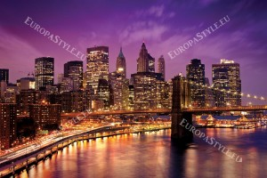 Фототапети Бруклински мост нощен изглед