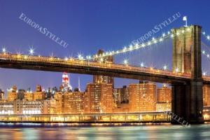 Фототапети Бруклински мост красив нощен изглед
