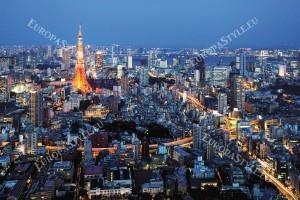 Фототапети Токио нощен изглед