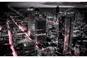 Фототапет нощен град розови светлини