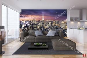 Фототапет Ню Йорк панорама нощен изглед