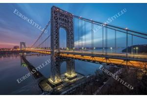 Фототапет мост нощен изглед в 2 варианта