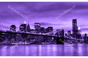 Фототапет Бруклинския мост изглед в 2 цвята