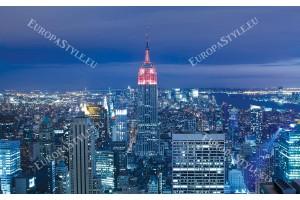 Фототапет нощна панорама Ню Йорк