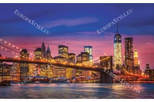 Фототапети изглед мост Ню Йорк многоцветен в 2 цвята
