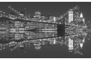 Фототапети бруклинския мост огледален образ сив фон