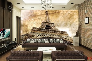 айфеловата кула винтидж композиция ретро стил
