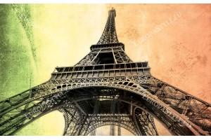Айфеловата кула на двуцветен мазилков фон 2 варианта