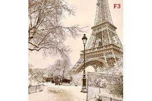 Фототапети айфеловата кула зимна приказка