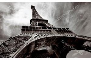 Фототапет Айфеловата кула на сив фон