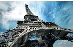 Фототапет Айфеловата кула на син фон