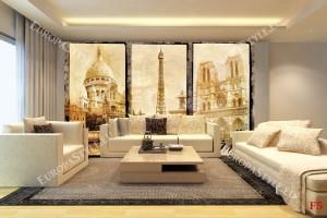 Фототапет ретро колаж от Париж