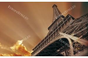 Фототапет Айфеловата кула в оранжево-кафява гама