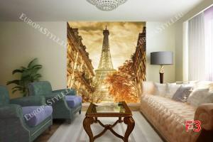 Фототапет градски изглед Париж ретро картичка