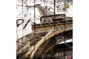 Фототапет Айфеловата кула картичка винтидж