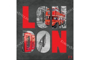 Фототапет Лондон колаж с букви