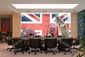 колаж Лондон със знаме