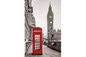 Фототапети изглед лондон червена кабина и кула биг бен 2 варианта