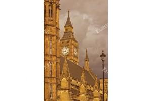 Фототапет изглед от Лондон кулата в бежово