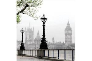 Фототапет изглед от Лондон в мъгла