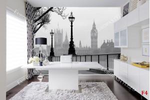 Фототапет изглед от Лондон в мъгла 2