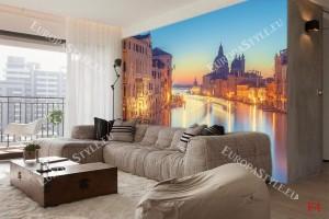 Фототапети прекрасен нощен изглед от Венеция