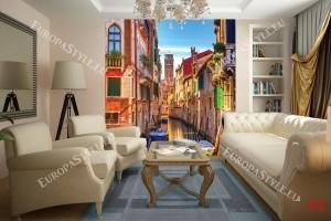 Фототапети колоритен канал във Венеция