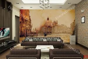 Фототапети Венеция рисувана картина канаваца