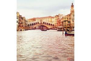 Фототапет изглед мост Риалто Венеция със и без колони