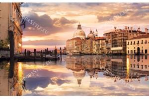 Фототапети красив изглед Венеция със сгради огледален