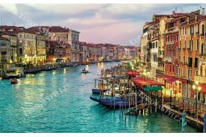 Фототапети цветен изглед Венеция състарен ефект-сгради