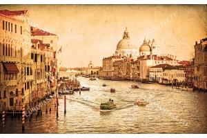 Фототапети Венеция гранде канал състарен ефект 2 цвята