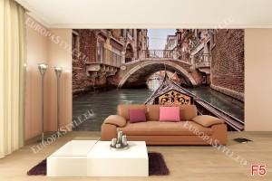 Фототапет красиво мостче Венеция с гондола