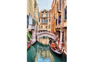 Фототапет ретро изглед на красив канал във Венеция