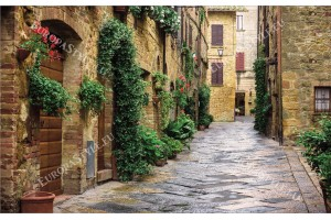 Фототапети традиционна гледка улица в Тоскaна Италия