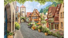 романтичен изглед от красив Ротенбург