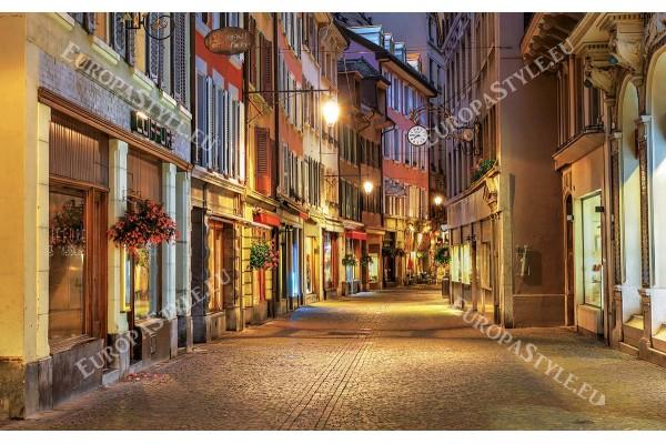 Фототапети уникално красива нощна улица ретро в 2 варианта