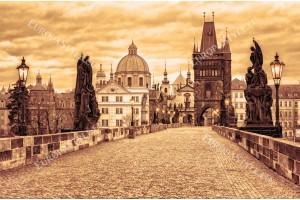 Фототапети красива гледка на стара Прага в 2 цвята