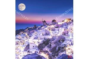Фототапет Санторини красива нощна гледка