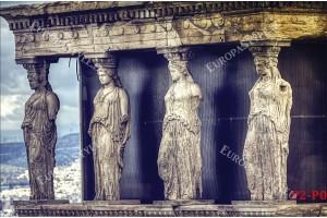 Фототапети акропола в Гърция статуи