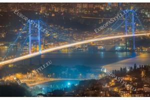 Фототапети нощен изглед мост над босфора в Истанбул
