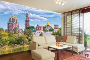 Фото тапети красив изглед на Москва езеро
