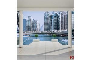 Фототапети стая с колони изглед  Дубай