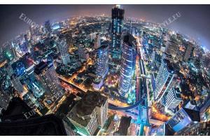 нощна панорама сгради от Банкок